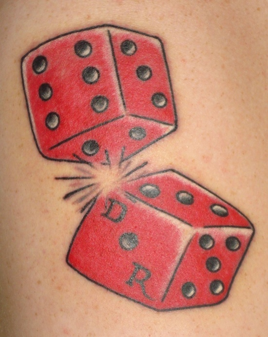 dice tattoos photo - 23