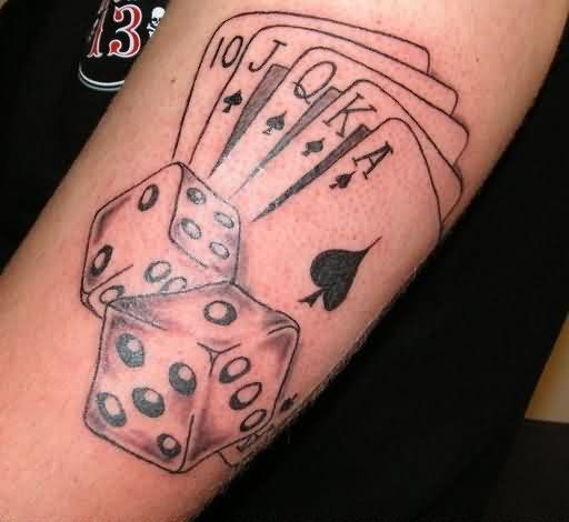 dice tattoos photo - 35