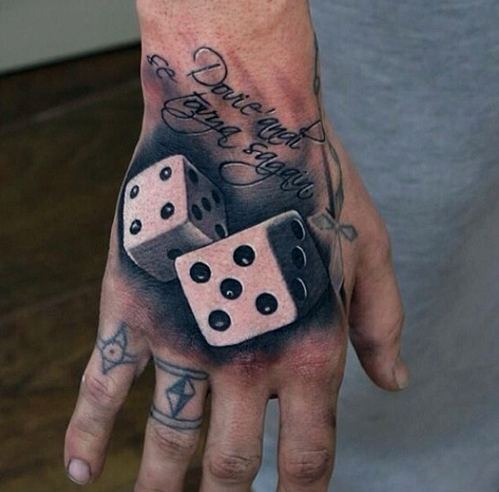 dice tattoos photo - 7