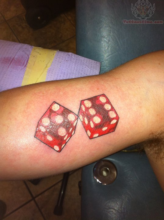 dice tattoos photo - 8