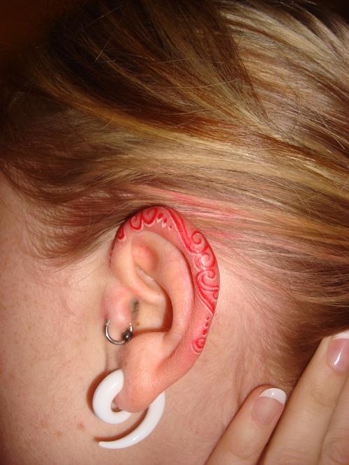 ear tattoos photo - 12