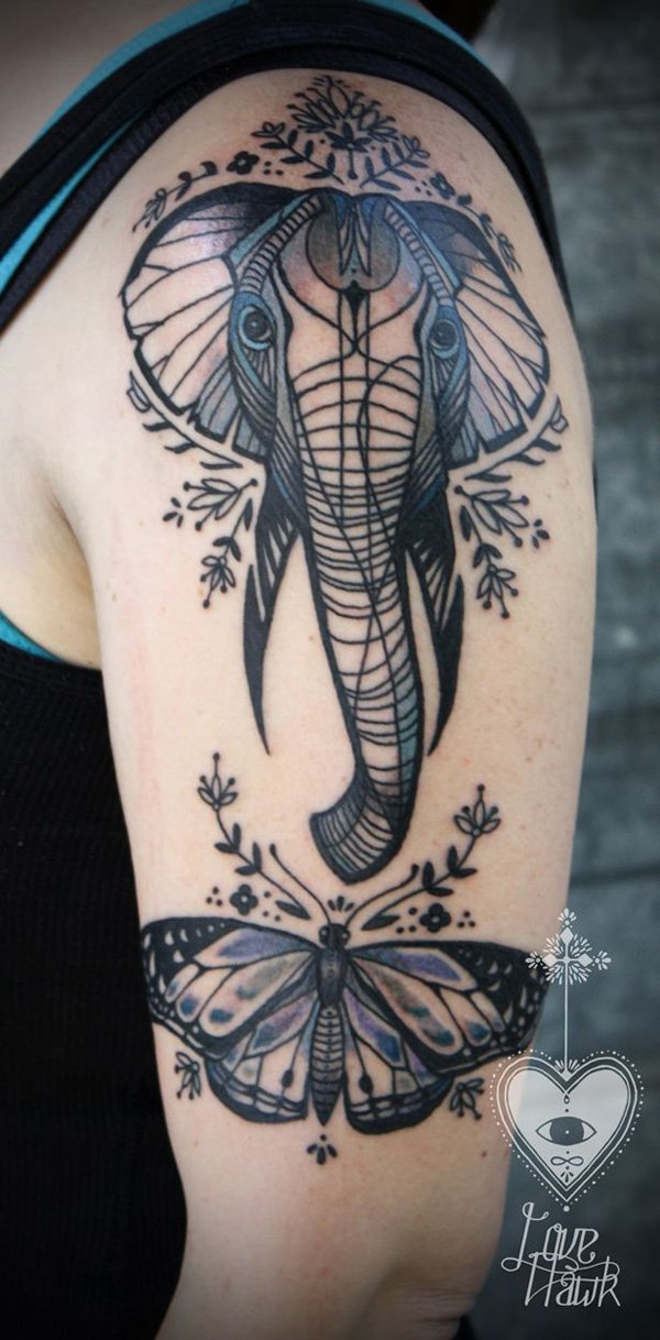 elephant tattoos photo - 26