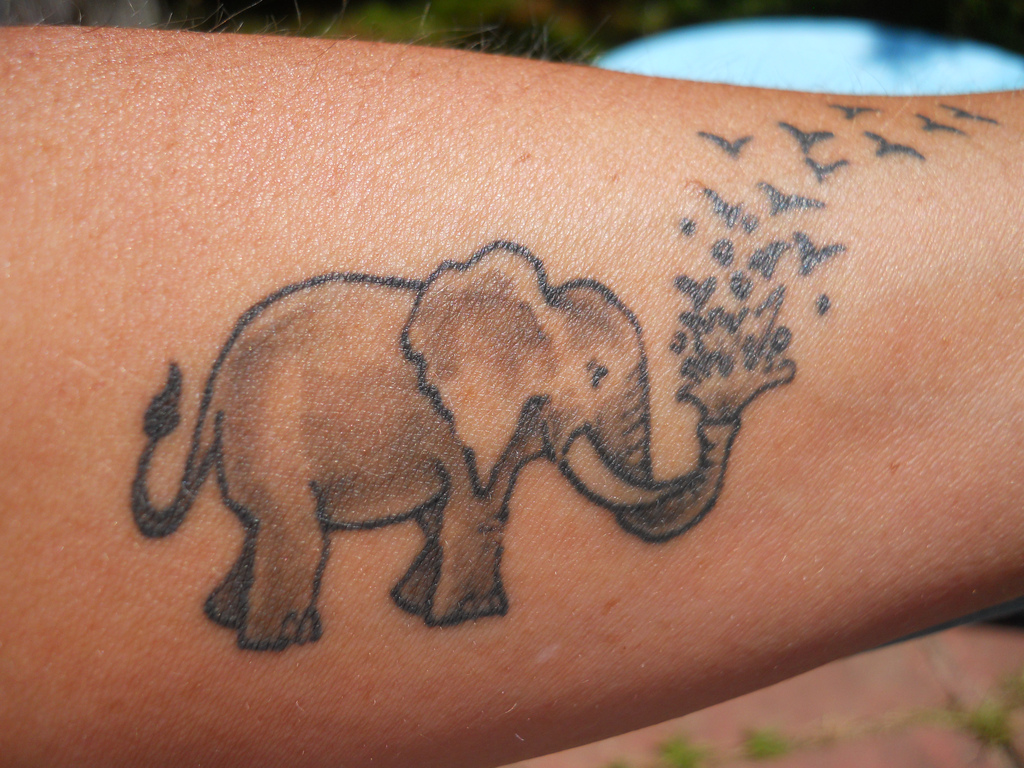 elephant tattoos photo - 3