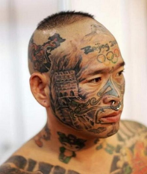 face tattoos photo - 12