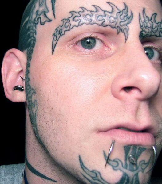 face tattoos photo - 23