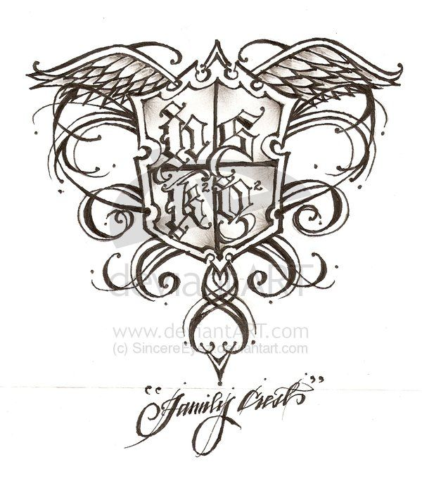 Family Crest Tattoos Tattoo Ideas And Design