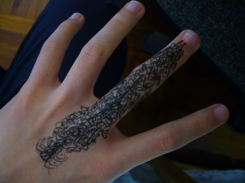 finger tattoos photo - 1