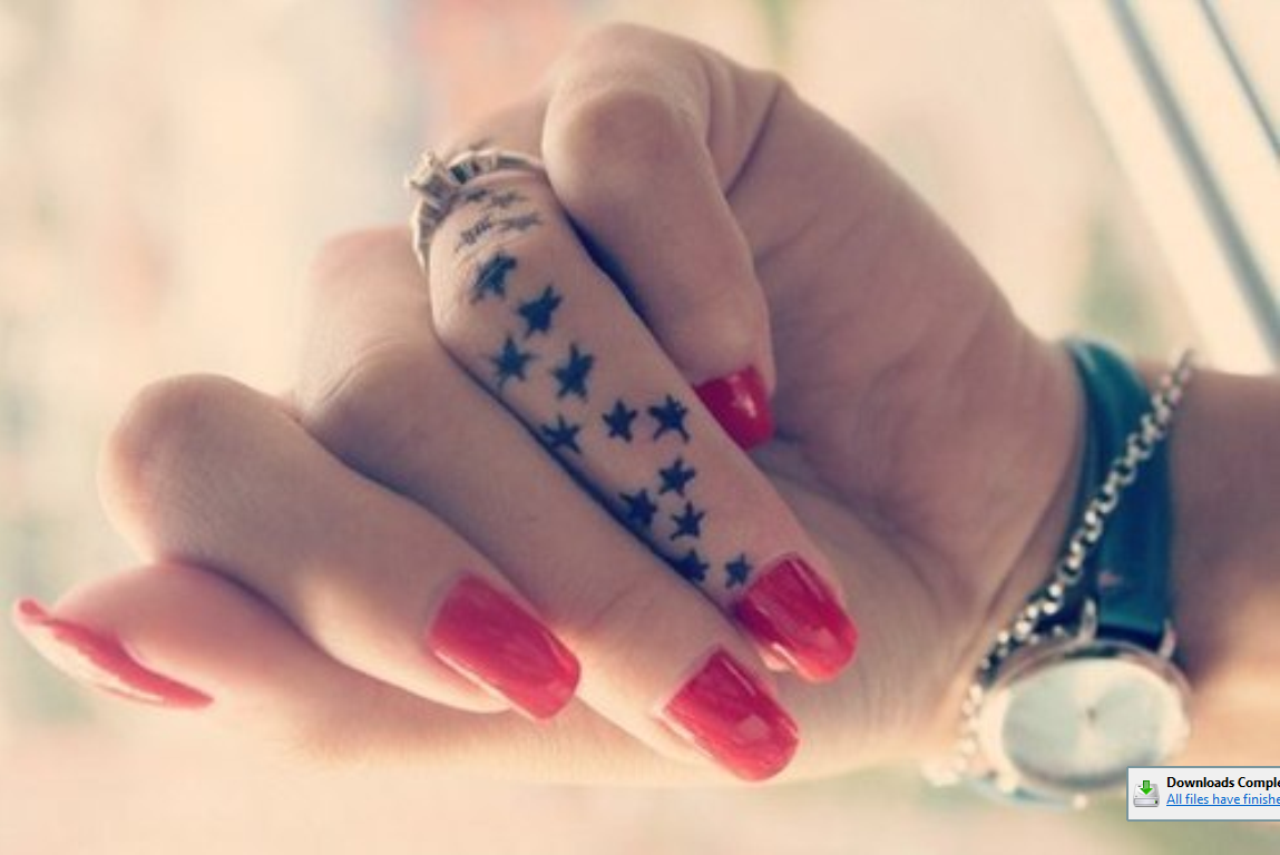 finger tattoos photo - 8
