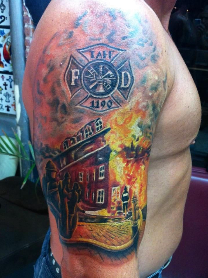 firefighter tattoos photo - 11