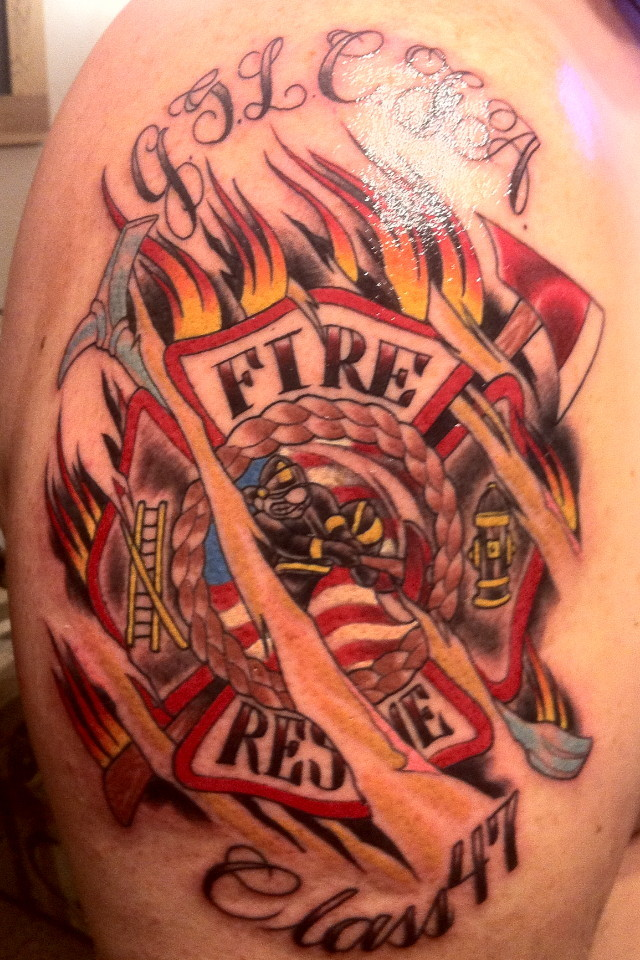 firefighter tattoos photo - 13