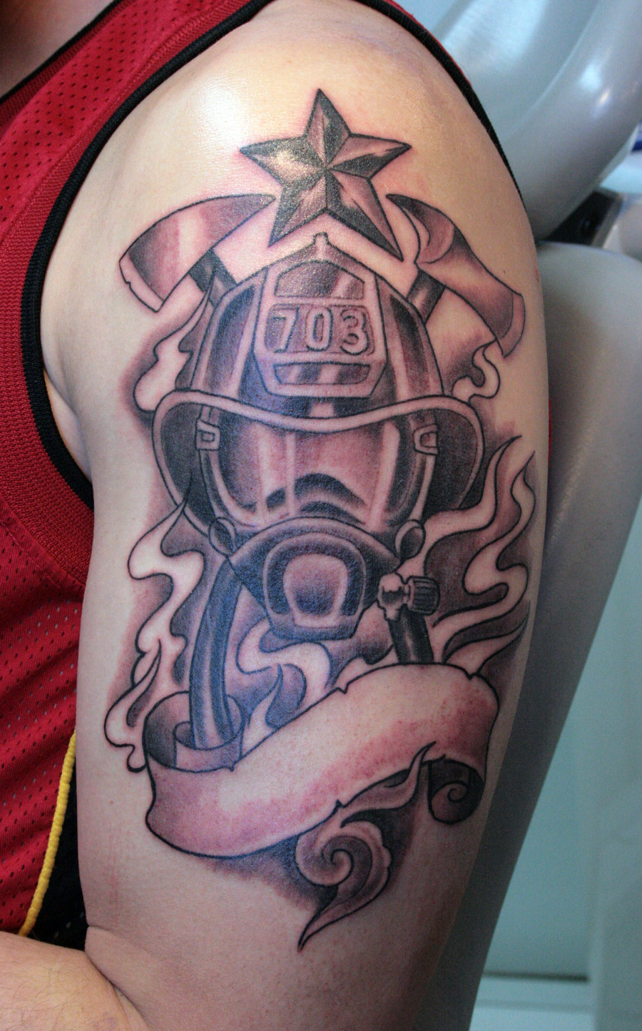 firefighter tattoos photo - 2