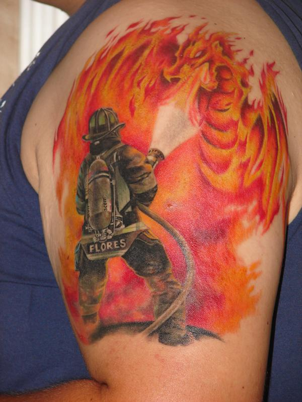 firefighter tattoos photo - 21