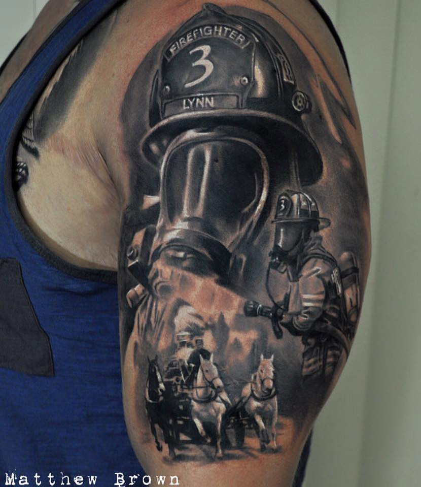 firefighter tattoos photo - 28