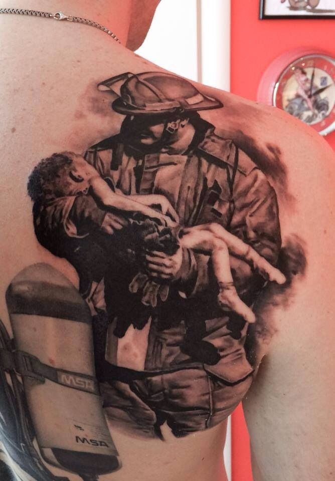firefighter tattoos photo - 29