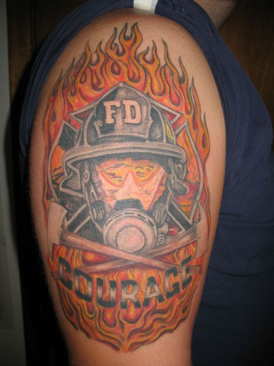 firefighter tattoos photo - 9