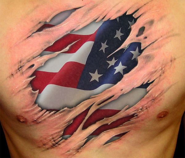 flag tattoos photo - 12