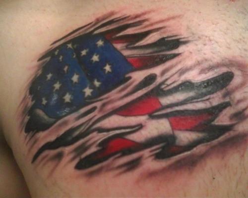 flag tattoos photo - 13