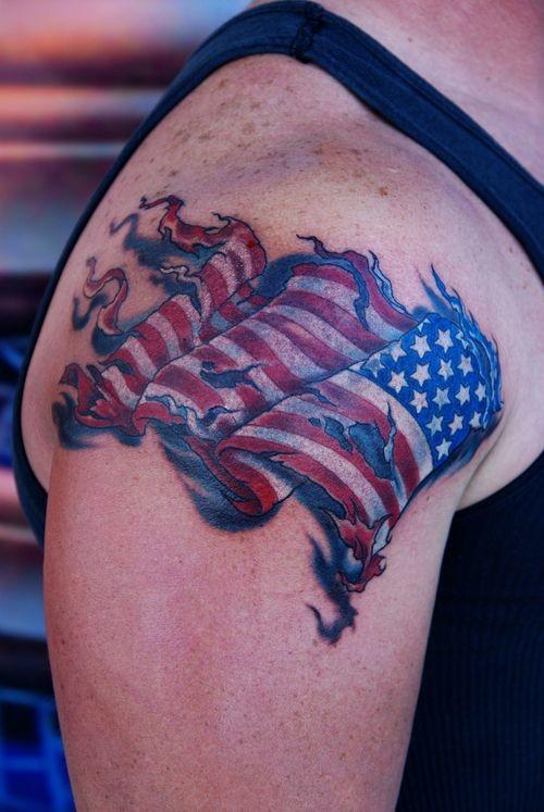flag tattoos photo - 16