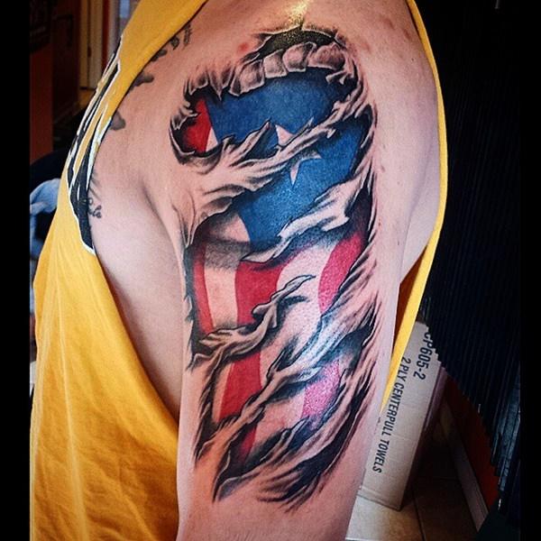 flag tattoos photo - 19