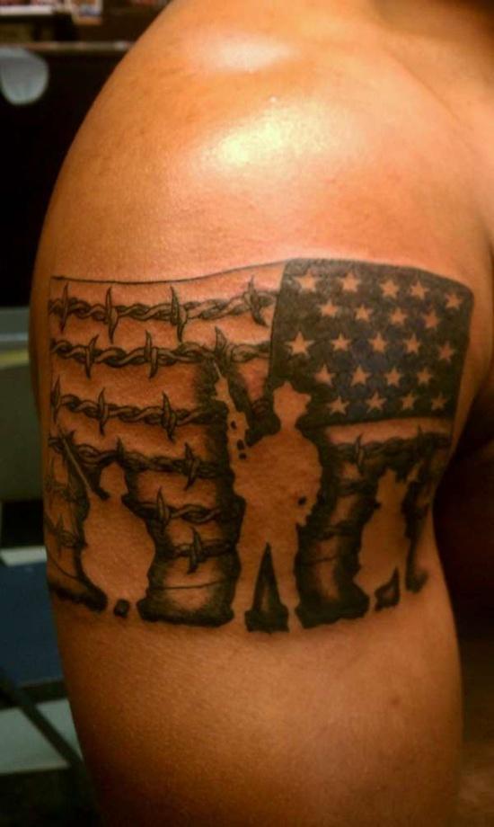 flag tattoos photo - 27