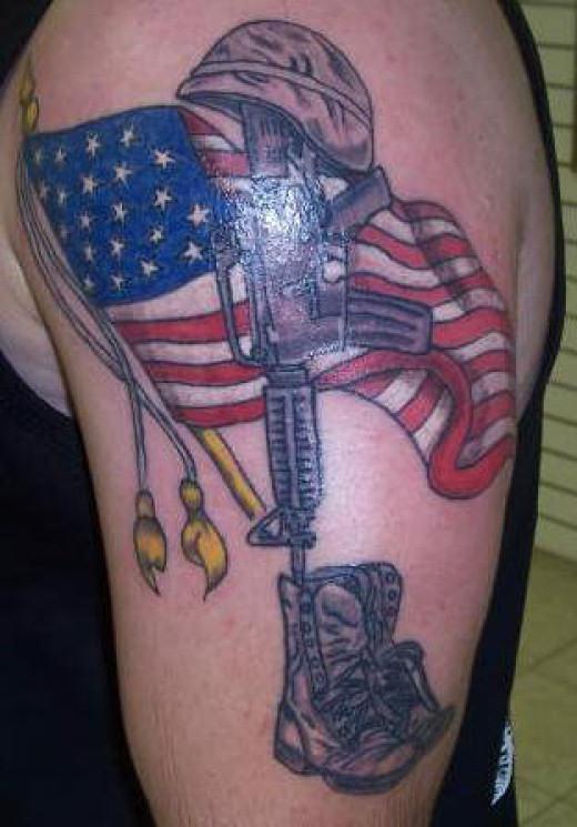 flag tattoos photo - 29
