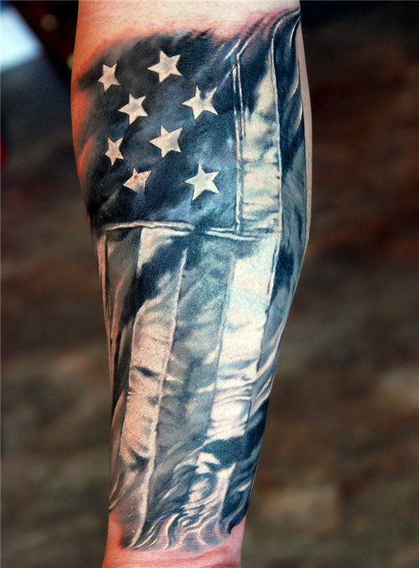 flag tattoos photo - 3