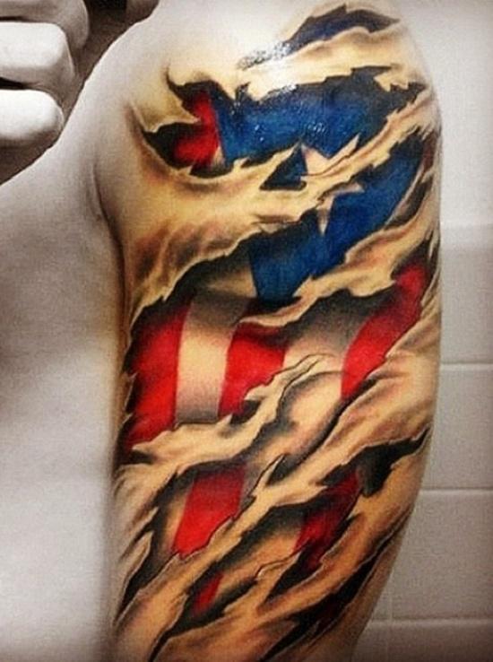flag tattoos photo - 5