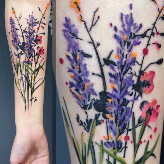 floral tattoos photo - 12