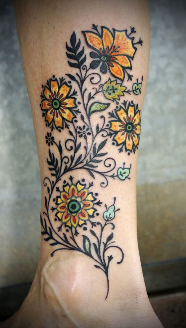 floral tattoos photo - 14