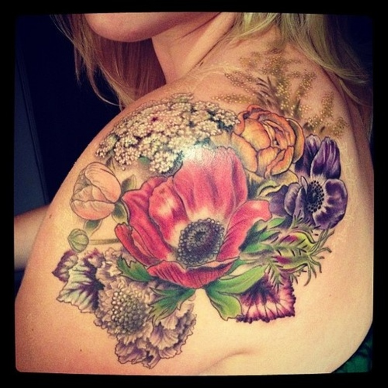 floral tattoos photo - 16