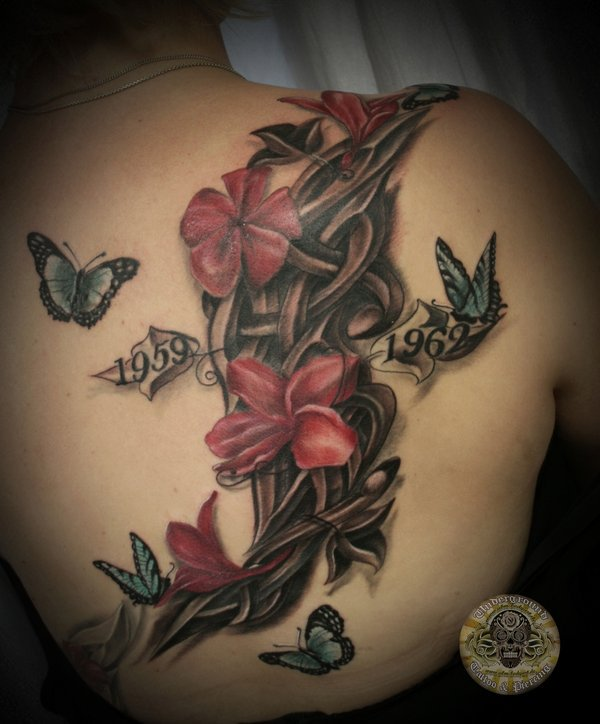 floral tattoos photo - 17