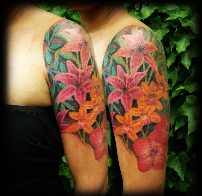 floral tattoos photo - 19