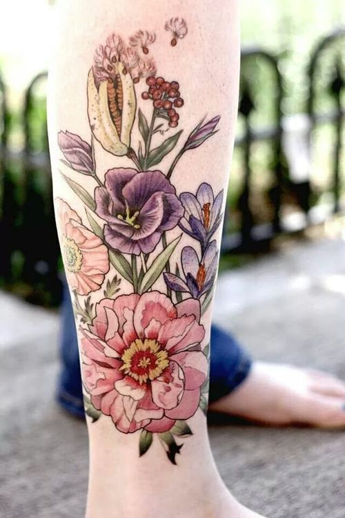 floral tattoos photo - 2