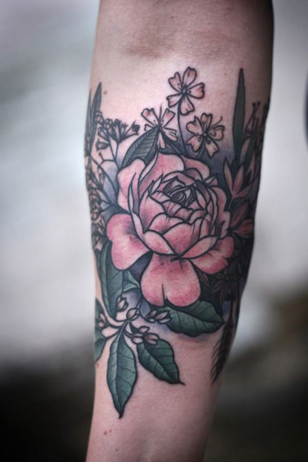 floral tattoos photo - 27