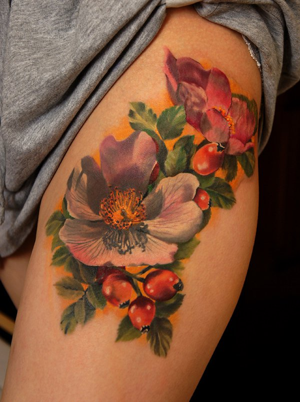 floral tattoos photo - 3