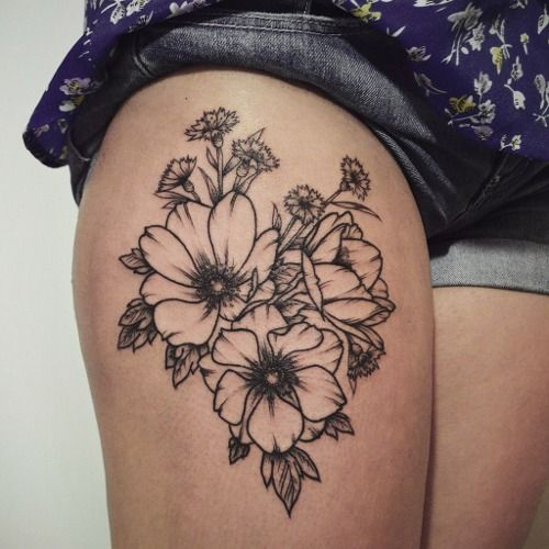 floral tattoos photo - 30