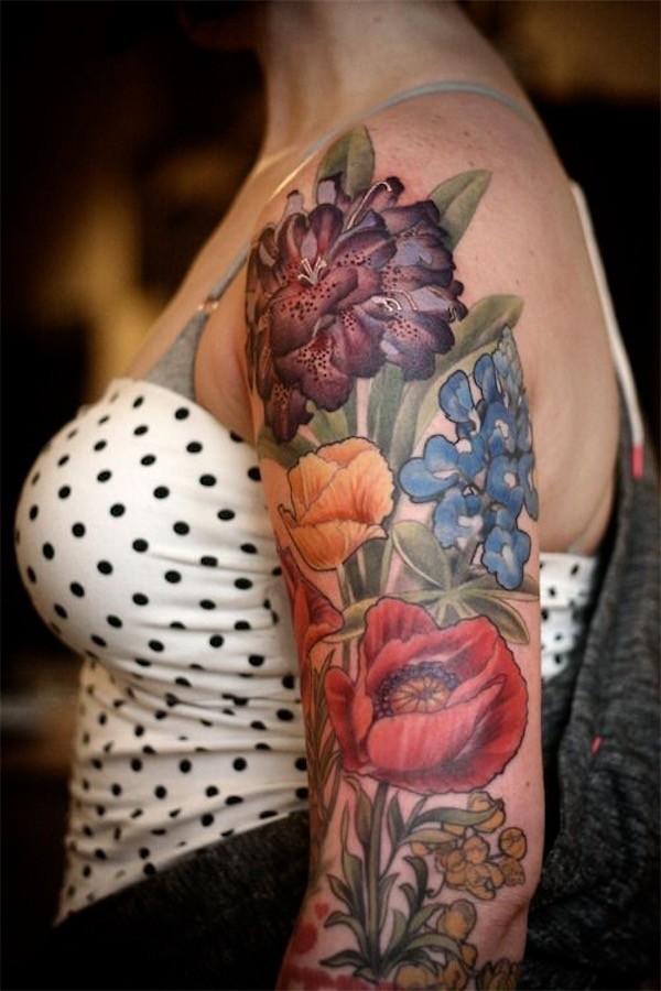 floral tattoos photo - 6