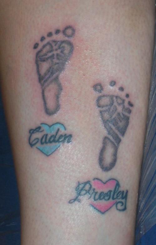 footprints tattoos photo - 15