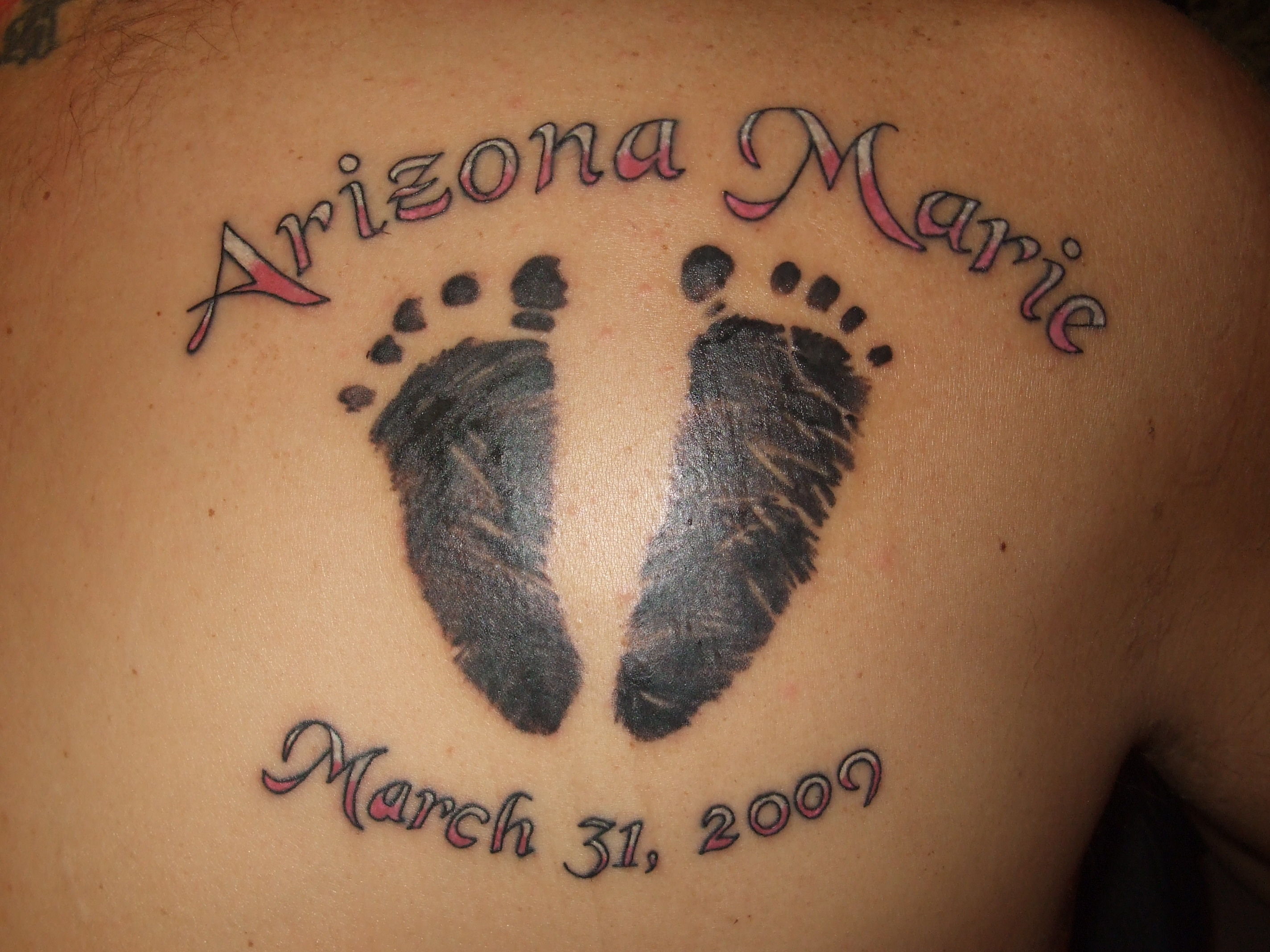 footprints tattoos photo - 3