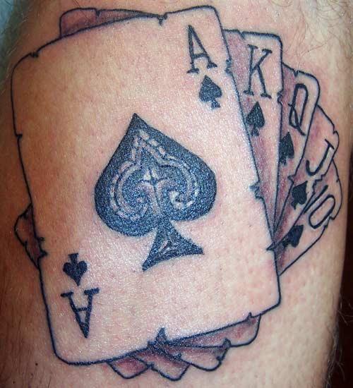 gambling tattoos photo - 20