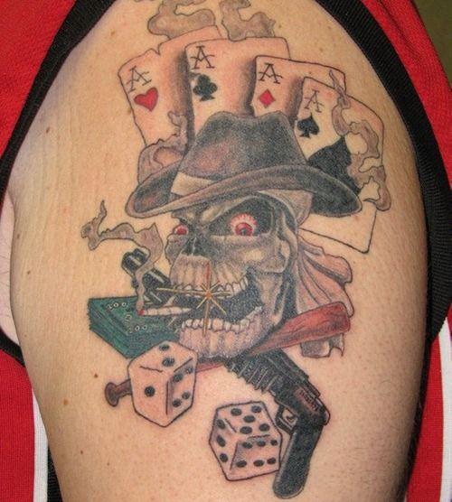 gambling tattoos photo - 22