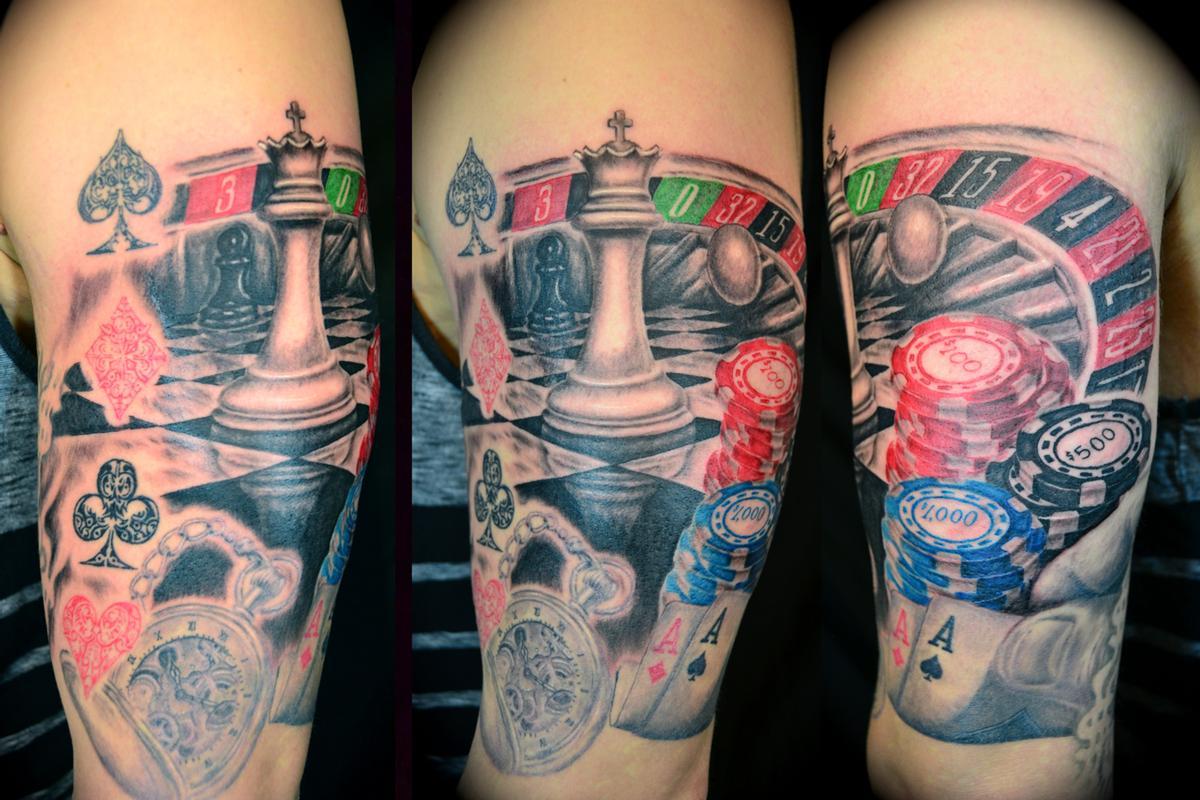 gambling tattoos photo - 25