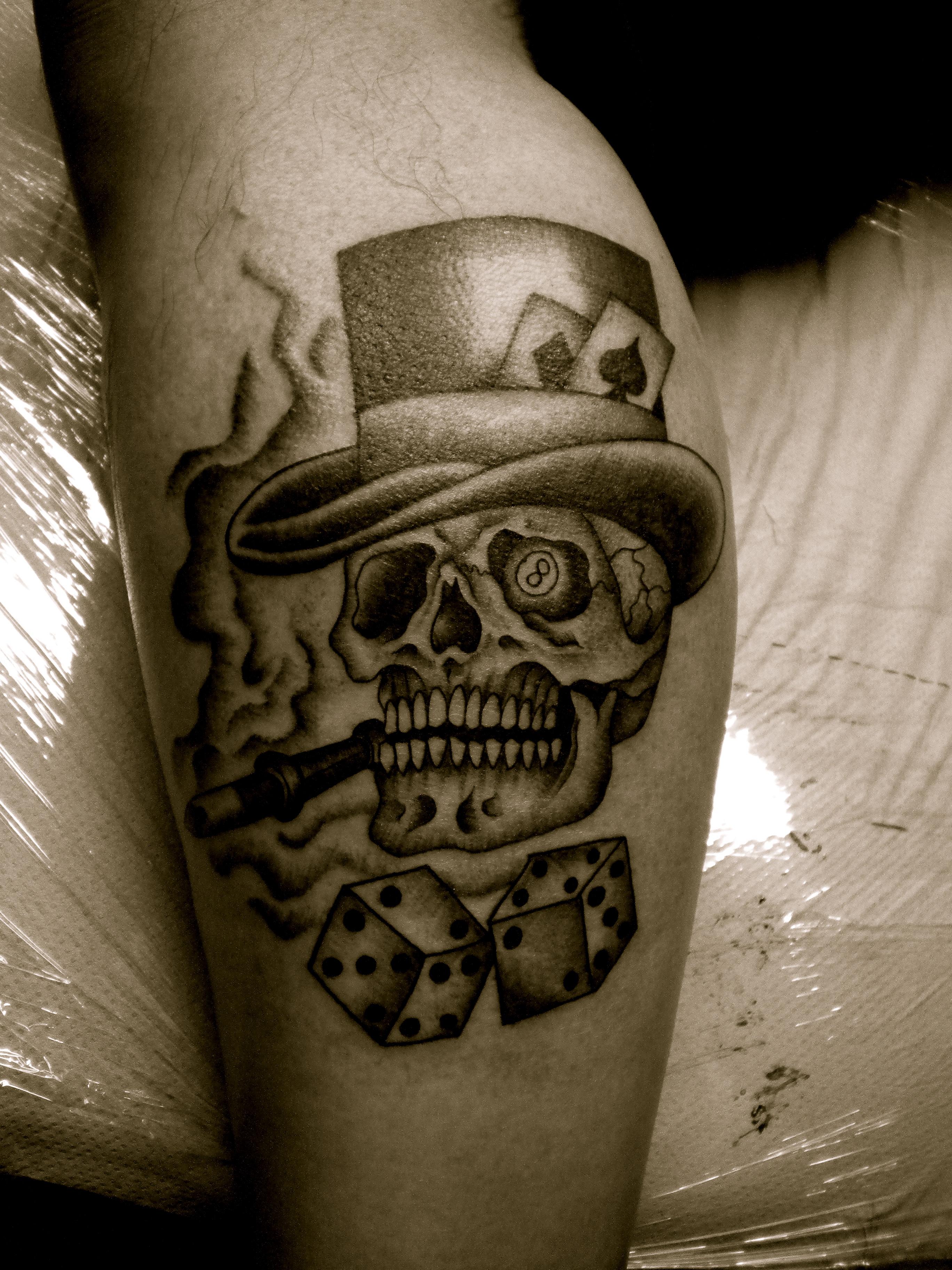 gambling tattoos photo - 27