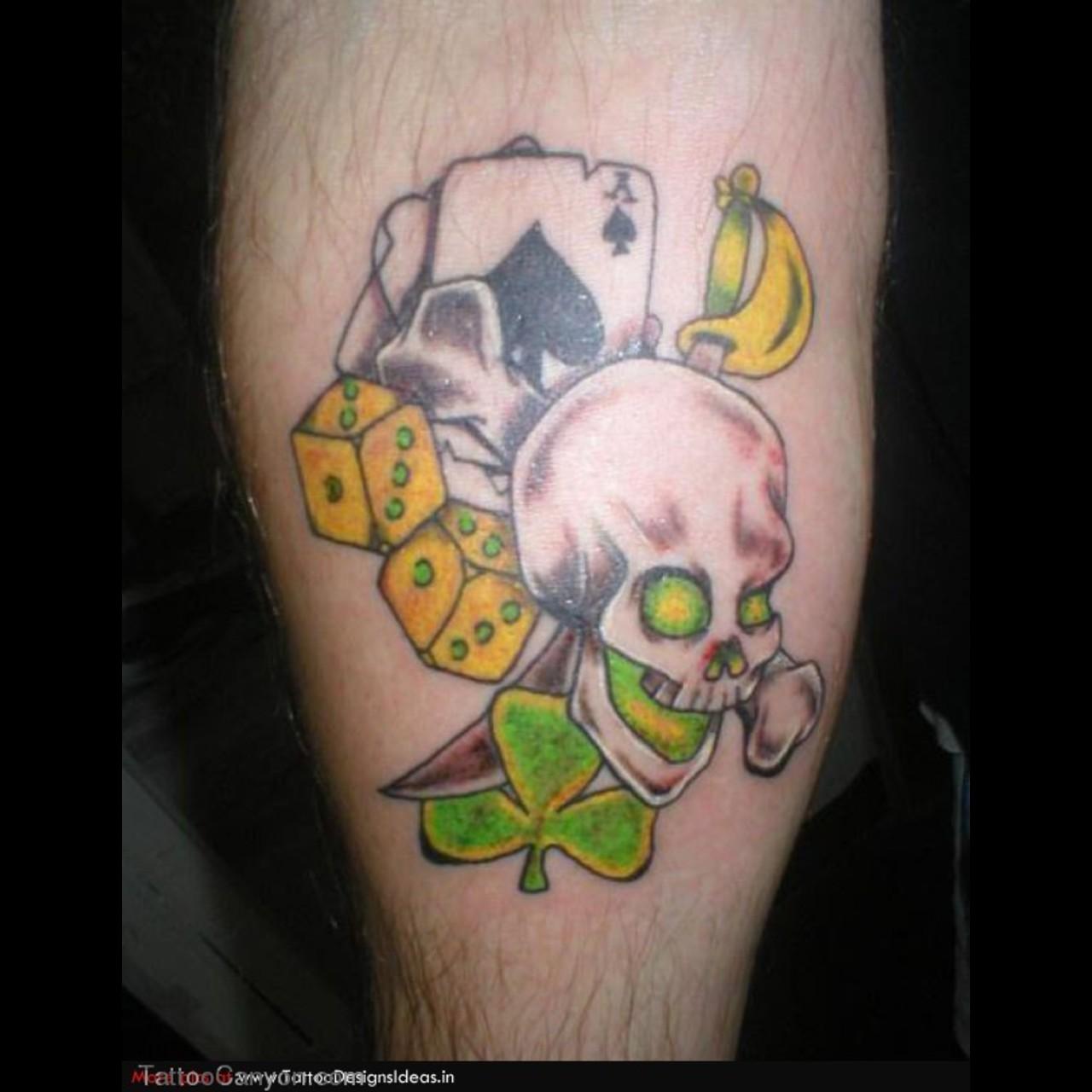 gambling tattoos photo - 28