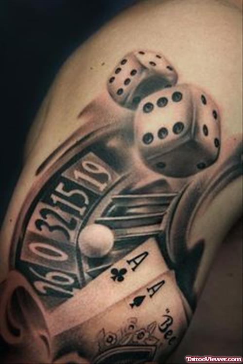gambling tattoos photo - 30
