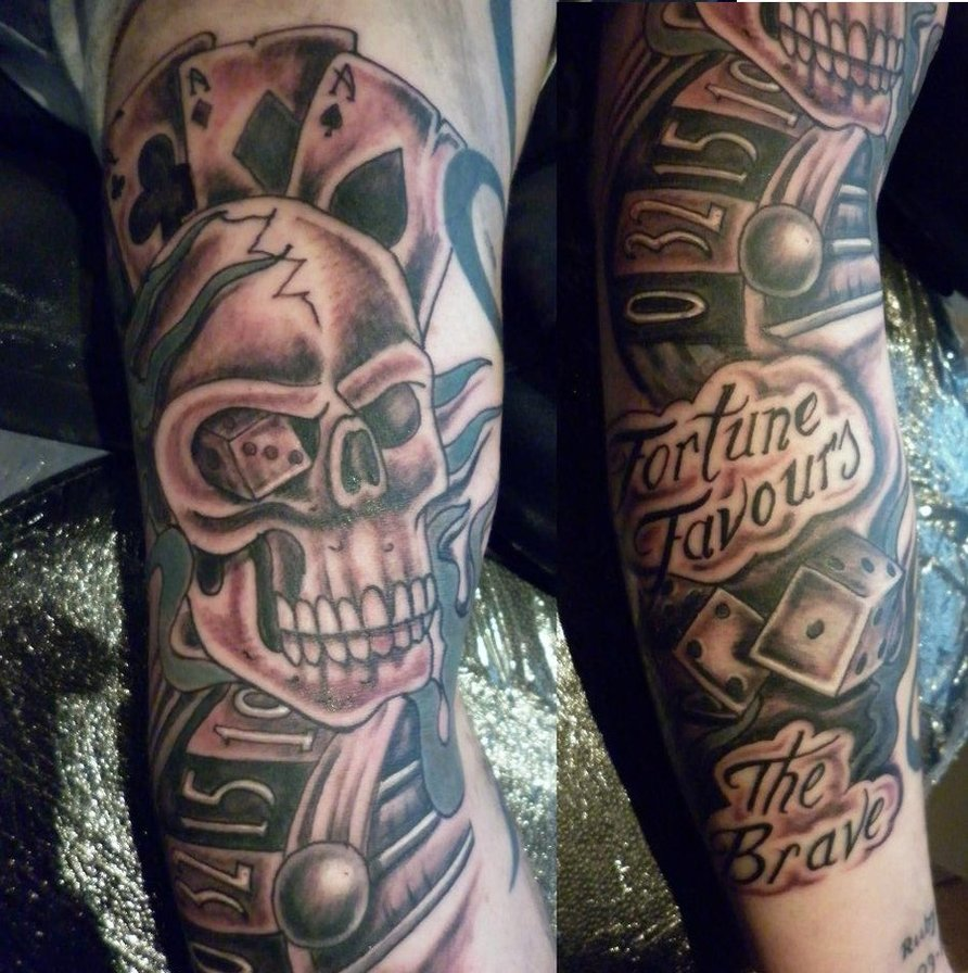 gambling tattoos photo - 31