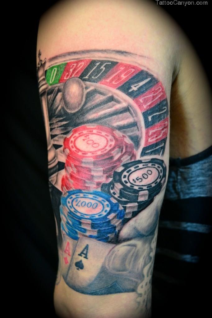 gambling tattoos photo - 32