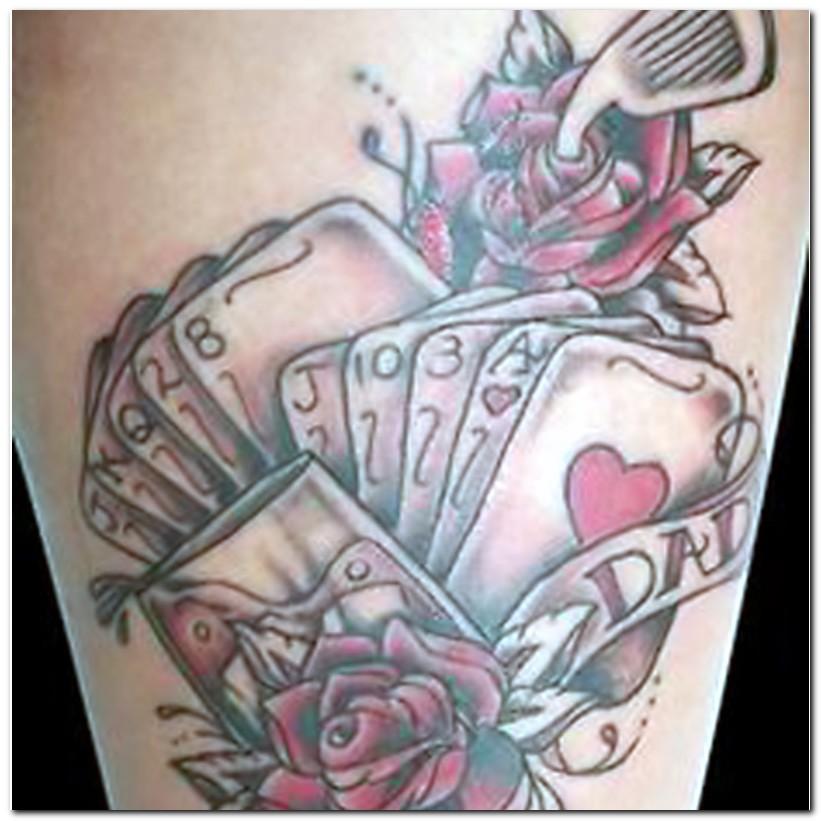 gambling tattoos photo - 4