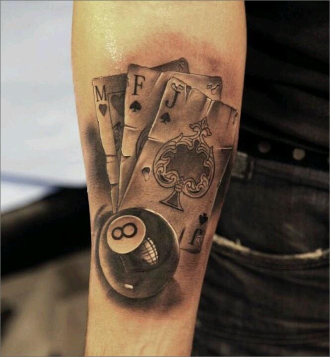 gambling tattoos photo - 7