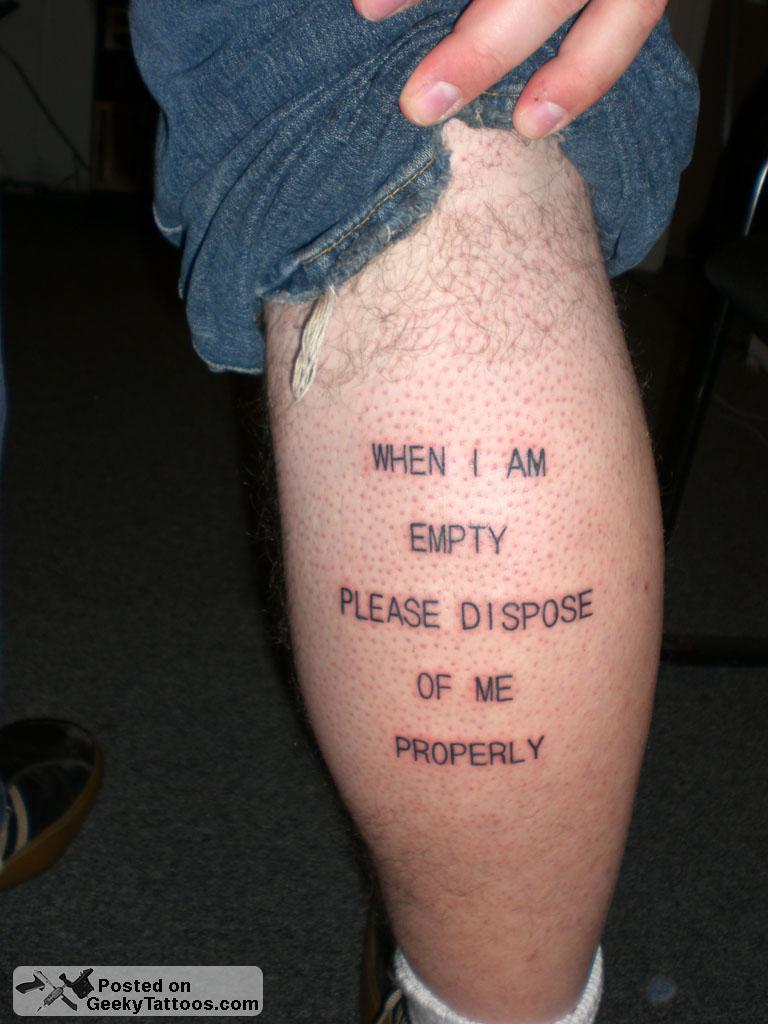 geek tattoos photo - 39
